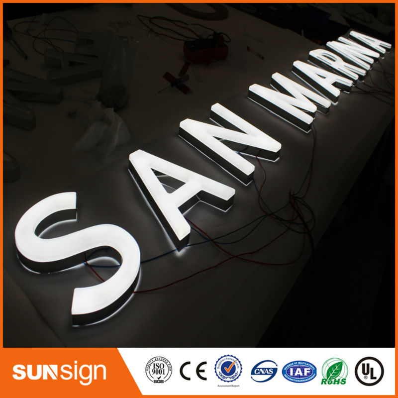 Store Window Advertising Illuminated Led Letters And Sign