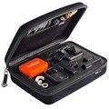 Caso gopro preto coleção de armazenamento saco de viagem de tamanho médio para gopro hero 4/3 +/3/2/1 sj4000 acessórios da câmera ação (medium)