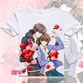 Japón Anime Sekai-ichi hatsukoi takano masamune T-shirt Onodera Ritsu Cosplay camisetas de Dibujos Animados Tops Camiseta