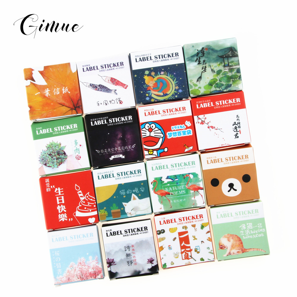 40 Pcs/pack Cute Creative Plants Succulents Mini Paper Sticker Decoration Diy Ablum Diary Scrapbooking Label Sticker Stationery