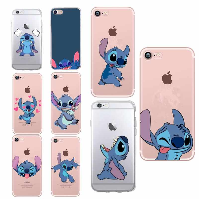 Funda de silicona de dibujos animados Stitch para iPhone 7 funda suave Linda Stitch para iPhone 7 8 X XS 7 8 Plus 6 6s 5 5 5S caso Capa Coque Funda
