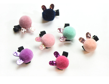 2019 Baby Hair Clip Barrette Cute Cartoon Solid Hairball Handmade Resin Children Hairpin Girl for Accessories
