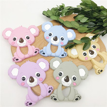 10pcs Baby Cute Koala Teether Food Grade Silicone Pram Toy Teething Accessories Handmade DIY Necklace Pendants