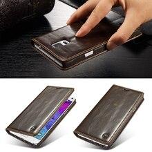 Роскошные Магнитная Флип оригинальный телефон чехлы для Samsung Galaxy Note 4 N9100 чехол Натуральная кожа бумажник чехол Fundas Аксессуары