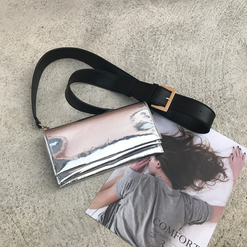 Luxury Women Bags Designer Strap Shoulder Bags Laser Pu Small Flap Messenger Crossbody Bags For Ladies Evening Party Handbags