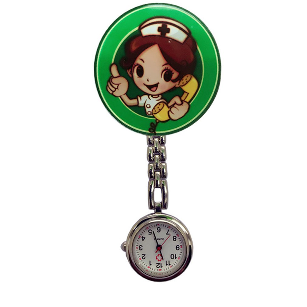 Perfect Gift Nurse Clip-on Fob Brooch Pendant Hanging Watch Star Pocket Watch Fashion Cute Nurse Doctor Wallet Watch