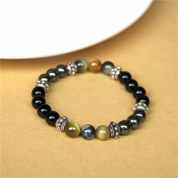 Bracelet Oeil De Tigre Obsidienne