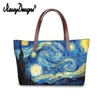 Women Shopping Bag Van Gogh The Starry Night Custom Bags Drop Shipping Neoprene Large Handbags Tote Bolsa Feminina Sac a Main