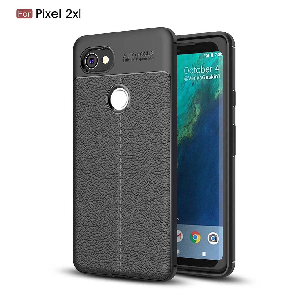 Soft Case For HTC Pixel XL 2 Silicon Cases Google Pixel XL2 Anti-Knock Phone Cover PU Leather Back