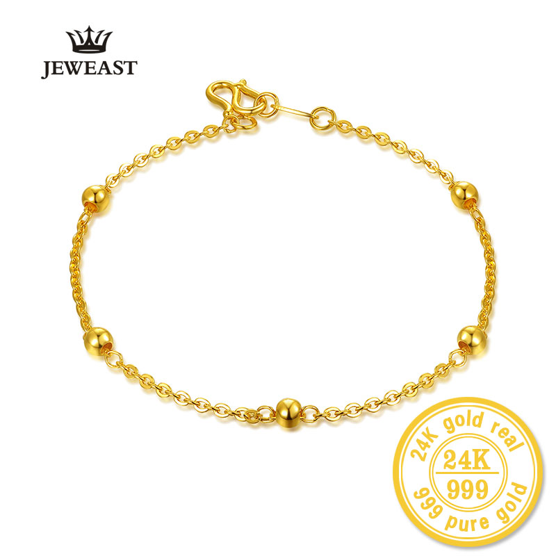 Bbb 24k Pure Gold Bracelet Lady Women Genuine Real Solid