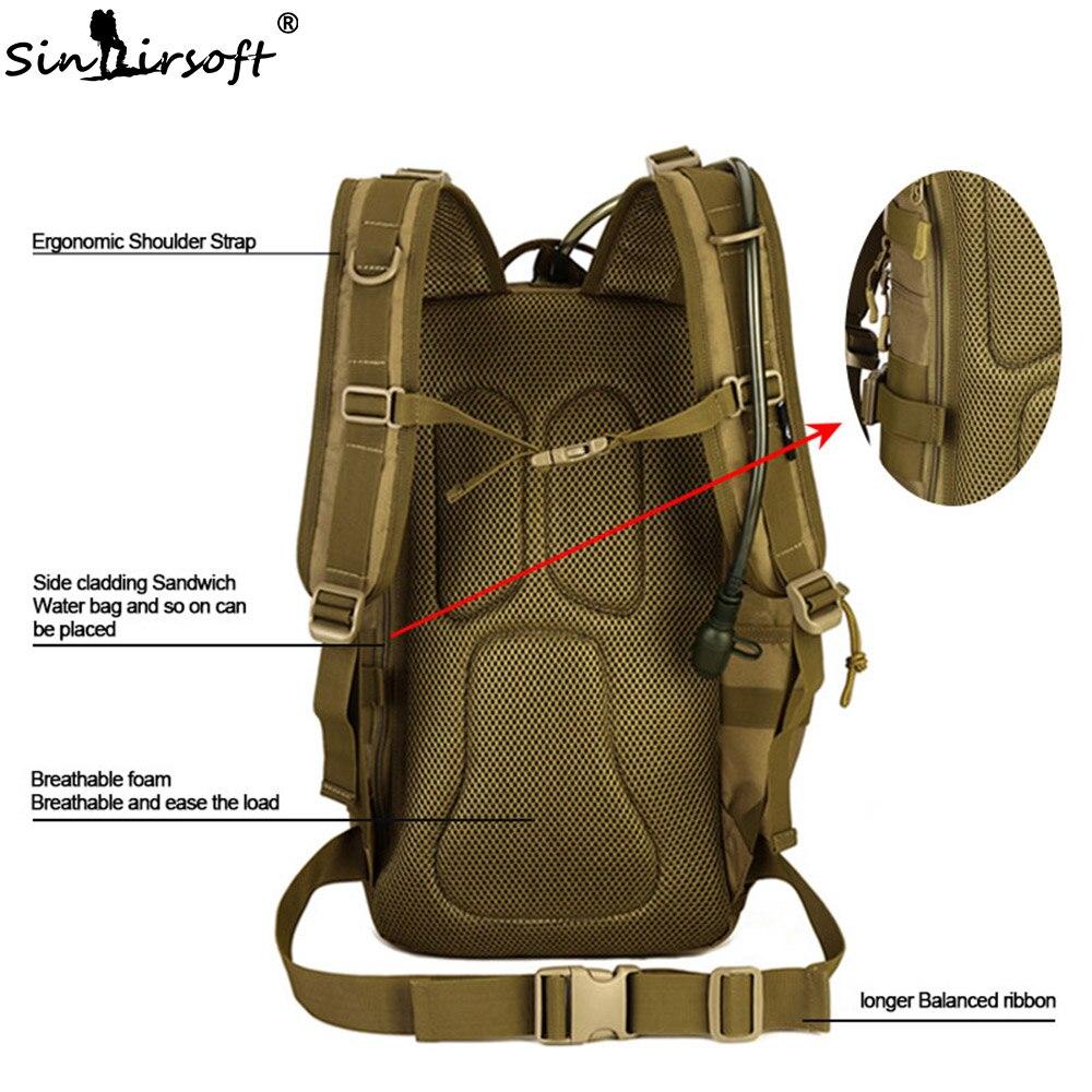 Sac à dos tactique extérieur 900D imperméable à l'eau armée épaule militaire chasse Camping multi-usages Molle randonnée voyage sac de Sport 30L - 5