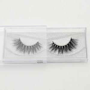Image 5 - Free DHL 100 Pairs 3D Real Mink Eyelashes Wholesale HandMade Thick Natural Long False Eye Lashes Extension Makeup 33 Styles Lash