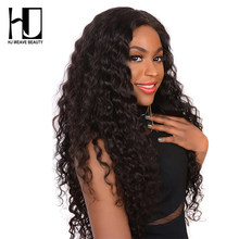 4x4 Lace Closure Wig Brazilian Virgin Hair Natural Wave Lace Front Human Hair Wigs For Black Women HJ WEAVE BEAUTY(China)