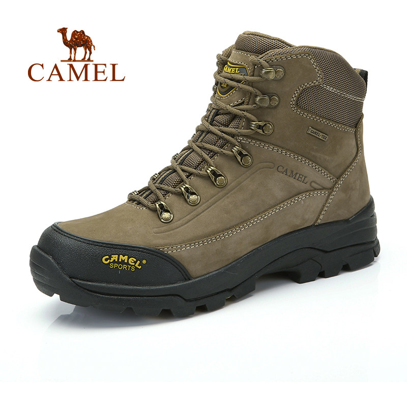 CAMEL high quality top grain genuine leather waterproof hiking shoes professional outdoor hiking shoes mountain climbing snakers