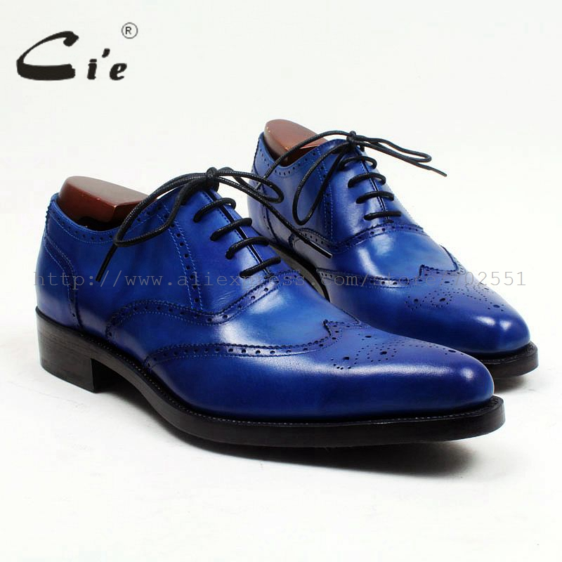cie pointed toe full brogues medallion royal blue full grain calf leather mens shoe goodyear welted bespoke leather shoe OX526cie pointed toe full brogues medallion royal blue full grain calf leather mens shoe goodyear welted bespoke leather shoe OX526