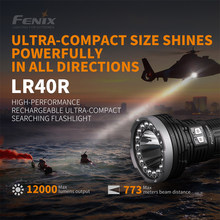12000 Lumens Fenix LR40R High-performance Rechargeable Ultra-compact Searching Flashlight with Li-ion Battery Pack(China)