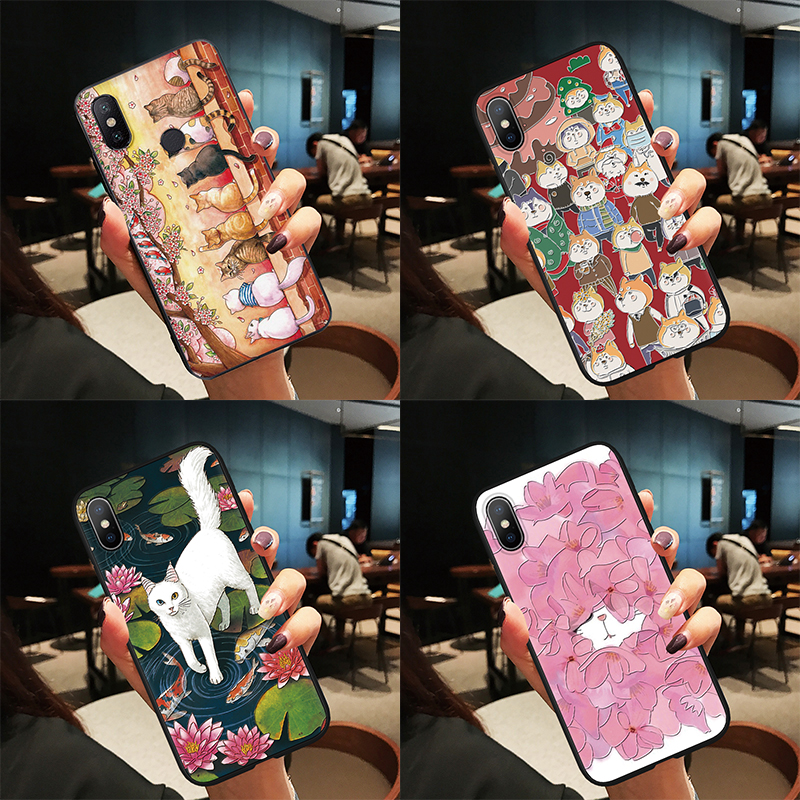 Cats Cute Coque Case For Huawei P30 P20 Mate 20 10 Lite Pro 3D Emboss Case For Huawei P Smart 2019 P9 P8 P10 Lite mini 2017 TPU
