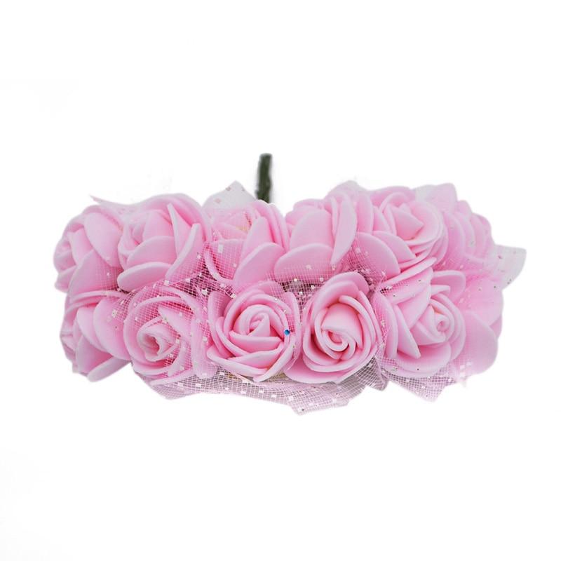 12Pcs Artificial Foam Rose Flowers for Wedding Party Decoration Handmade Wreath Accessories DIY Home & Living Decorative Flowers