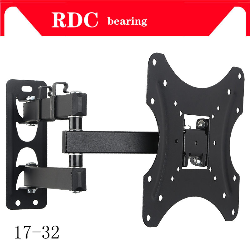 Support 25KG Retractable Full Motion TV Wall Mount Bracket Wall Stand Adjustable Mount Arm Fit for Plasma Flat LED TV 17-32 A lcd bracket tv mount wall mount wall stand adjustable mount arm fit for 26 50 max support 40kg can swing left and right page 9