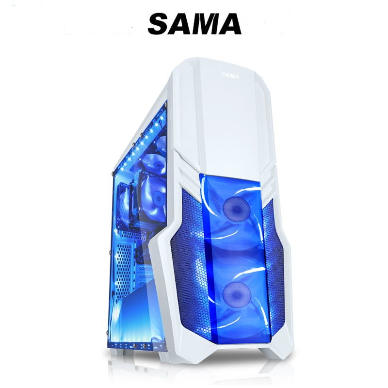 SAMA Desktop computer game main chassis Future Warrior Full sided ATX U3 Support the back line Water cooled chassis funny fishing game family child interactive fun desktop toy