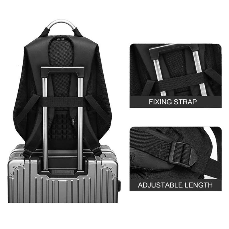Sacs à dos d'ordinateur portable hommes USB charge à la mode affaires sac à dos hydrofuge grande capacité voyage sac à dos mâle mochila ML045 - 5