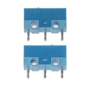 Image 4 - HUANO Micro interrupteur de souris, 5 pièces, coque blanche et bleue, 0,74n, Contacts en alliage dargent, 20 Millions de vie