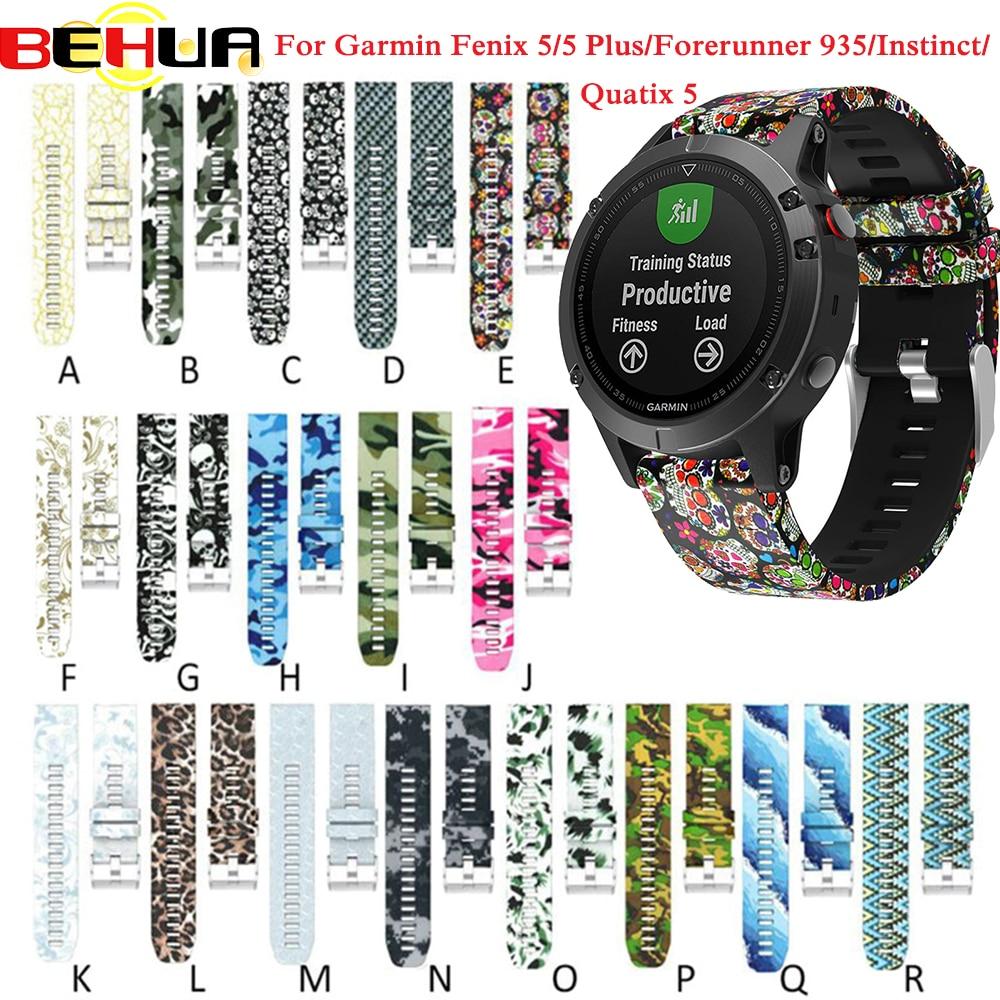 Strap Watchband Garmin Fenix Sports Silicone 5-Forerunner 22mm 935 5-forerunner/935/Gps/..