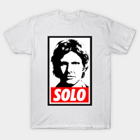 2017 Summer New Arrival Men Brand Clothes T Shirt Star Wars Han Solo Obey Giant Print
