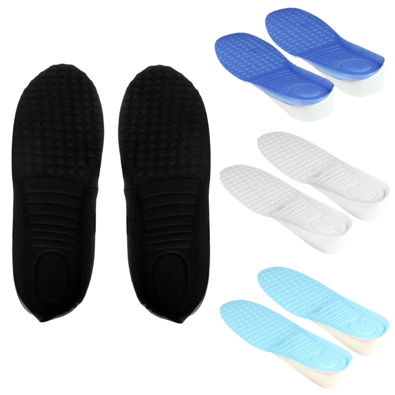 1Pair 3CM Women Man Up Height Increase Shoe Pad Heel Insoles Taller Pads 2 style to choose1Pair 3CM Women Man Up Height Increase Shoe Pad Heel Insoles Taller Pads 2 style to choose