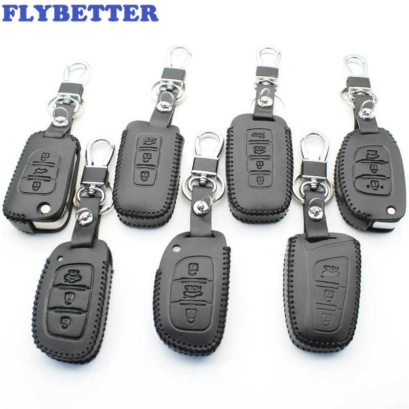 FLYBETTER Case-Cover Key Genuine-Leather for I45/new Santafe L2221