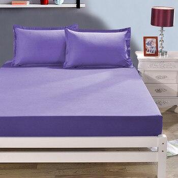 12 colores sólido puro Color no mezclado sábana ajustada 200*200/120*150/180*200 altura 25 cm impreso poliéster sábana ajustada