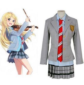 Tu mentira en abril Miyazono Kaori Arima Kousei disfraz de anime japonés uniformes escolares para niñas y niños trajes
