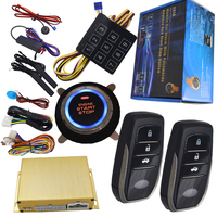 automotive car anti theft device rfid smart key entry and start stop button engine with shock sensor alarm and window up output