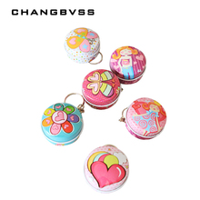12 Pieces/Lot Cheap Cute Small Candy Boxes Round Metal Tin B