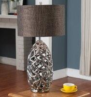 Modern Table Lamp Electroplated ceramic Book Lights Desk E27 Holder Modern Bedside Lamp La lamparas for Home Bedroom decor
