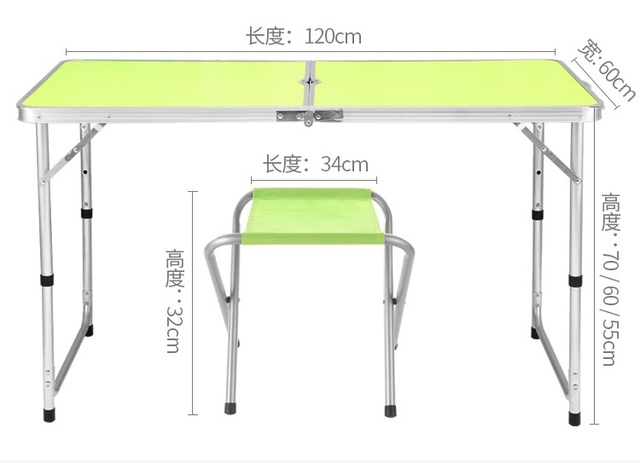 Folding outdoor portable  stalls home dining chairs simple propaganda portable display small rice table