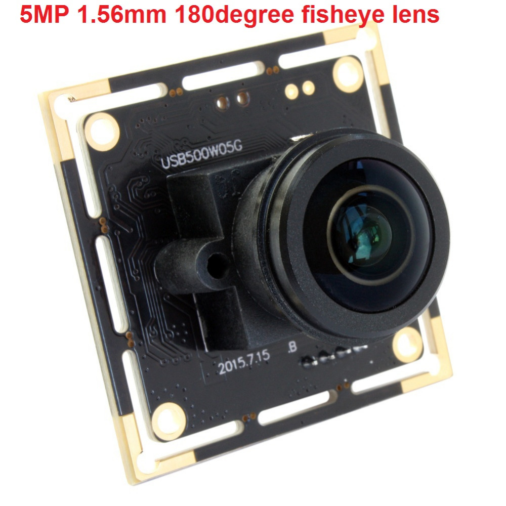 5Megapixel Aptina MI5100 CMOS USB Webcam usb2.0 high speed usb board camera module with 5MP 1.56mm wide angle fisheye lens цены