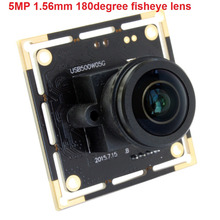 5Megapixel Aptina MI5100 CMOS USB Webcam usb2.0 high speed usb board camera module with 5MP 1.56mm wide angle fisheye lens