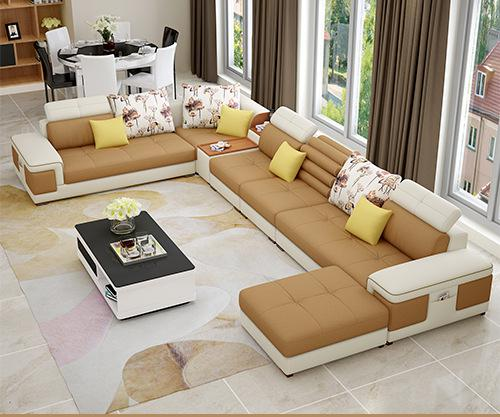 The Large Sized Apartment Sofa Simple Modern U Type Sofa Factory Direct  Sales
