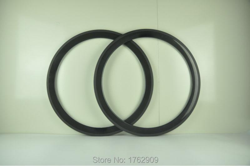 1 par nouvelle 700C 50 mm pneu jantes route engins fixes vélo 3 K pleine fiber de carbone vélo de roues de jante 20.5 23 25 mm de largeur navire gratuit