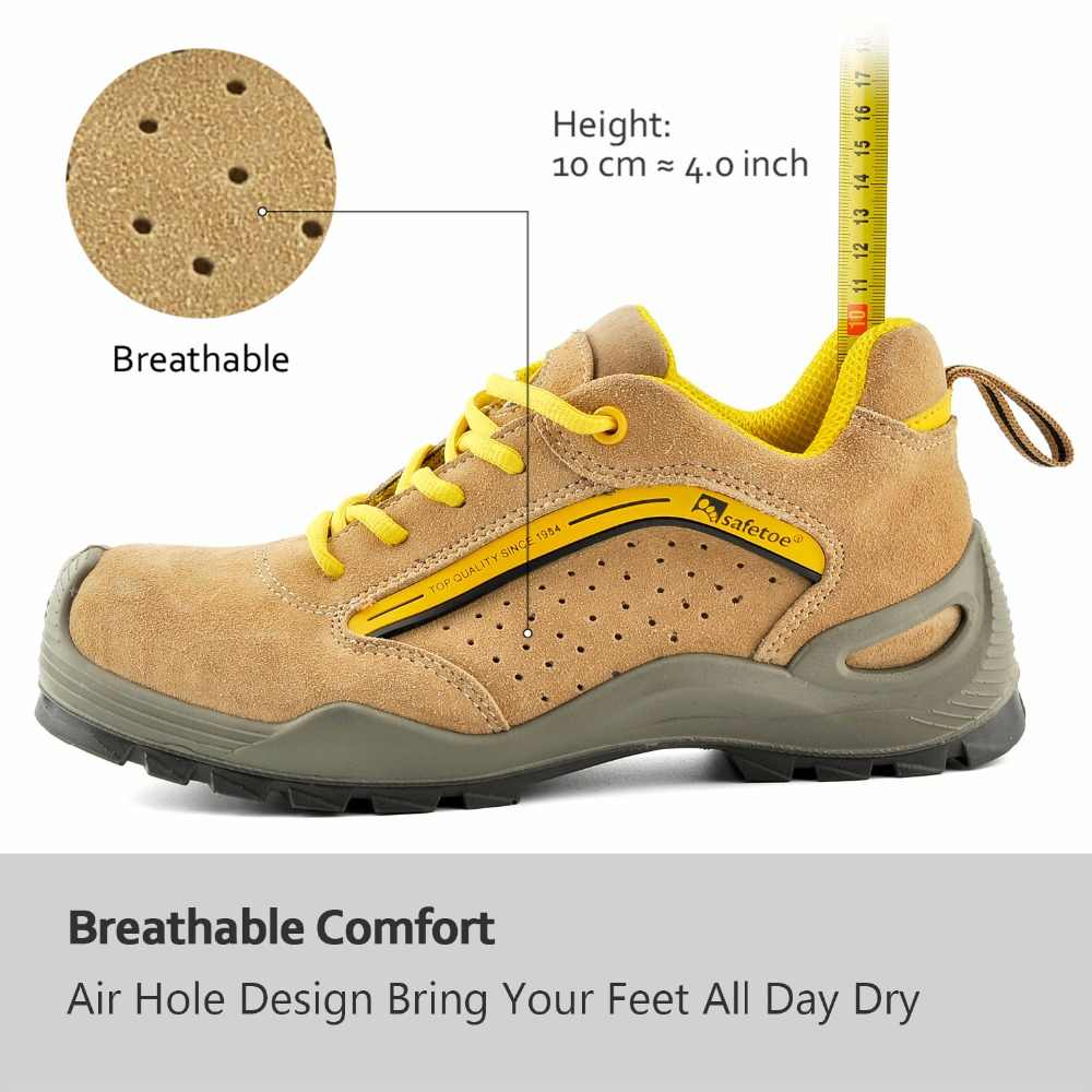 e164704069e0 ... SAFETOE Safety Shoes For Women Work With Steel Toe Work Boots  Construction Casual Protective Footwear Anti ...