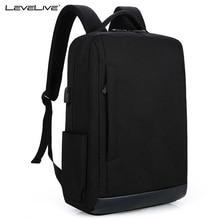 LeveLive Multifunction USB charging Laptop Backpack Men Bolsa Mochila 15Inch Computer Rucksack School Bag Backpack for Teenagers