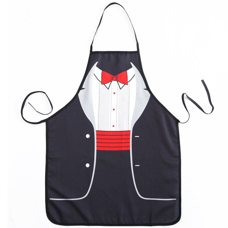 1Pcs Fashion Women Men Printed Apron Bibs Home Cooking Baking Party Funny Cleaning Aprons Kitchen Accessories 46094