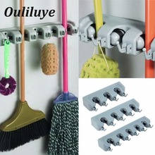 Storage Mop Holder  Brush Broom Wall Mounted Rack Multifunction Kitchen Organizer Bathroom Tool Accessories