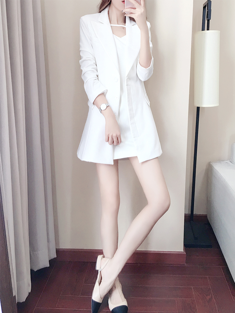 Tempérament Mode Ensemble Blanc pièce Mince Qualité Féminin 2019 Automne Élégant Supérieure Était Costume De Printemps Femmes White Deux Nouveau 7FqSYH1W