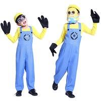Костюм для Хэллоуина костюм для мальчика маленький желтый Люди Гадкий я RPG одежда Одинаковая семейная одежда Маленькие желтые люди