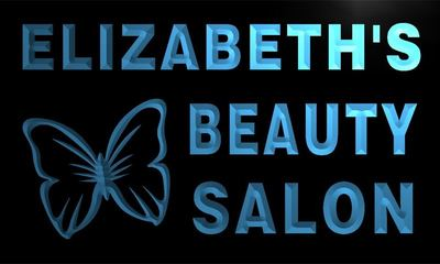 x2005-tm Elizabeths Beauty Salon Custom Personalized Name Neon Sign Wholesale Dropshipping On/Off Switch 7 Colors DHL