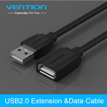 Vention USB2.0 Extension Cable USB 2.0 Cable Male To Female USB Data Sync USB Charger Extender Cable For PC Laptop U Disk Mouse(China)