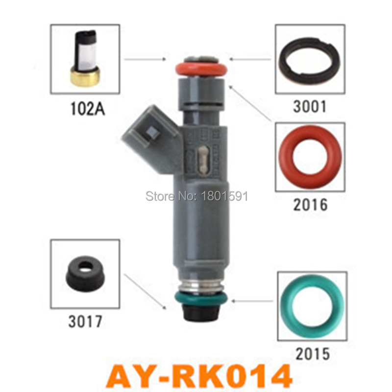 Ayounes Seewell Store 40kits TOP FEED MPI  Fuel injector repair kit /fuel injection service kits  for ford car replacements AY-RK014