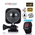 SOOCOO 4 K C-UBE360H Wi-fi À Prova D' Água Mini Câmera de Ação de Esportes Ao Ar Livre 360 Grande-Angular de Vídeo Cam com Controle Remoto VR Câmera